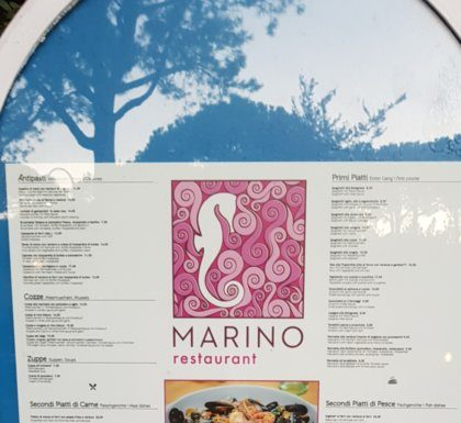 Speisekarte Marino